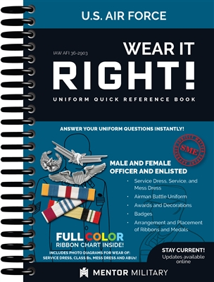 Wear it right air force uniform book iaw afi 36 2903 for Air force decoration writing guide
